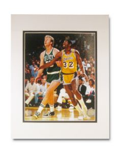 Larry Bird and Magic Johnson 11 x14 Photo