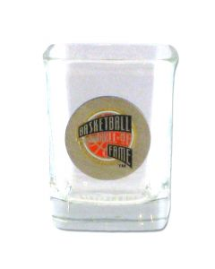 Square Basketball Hall of Fame Shot Glass