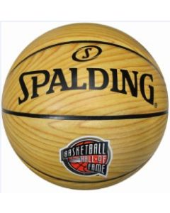 Hall of Fame Wood Grain Full Size Spalding Basketball