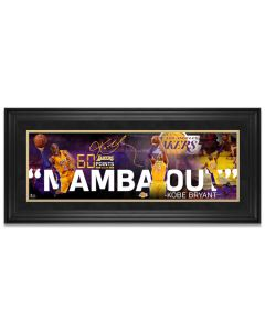 "Kobe Bryant ""Mamba Out"" Framed Print"