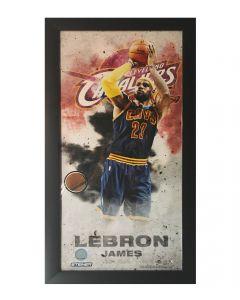 LeBron James Game Ball Wall Art