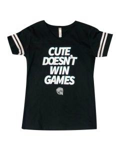 "Ladies ""Cute Doesn't Win Games"" T-Shirt"